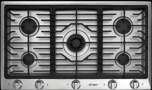 "DCT365SLP Dacor Distinctive 36"" Liquid Propane Cooktop - Stainless Steel"