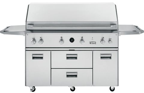 "ZGG540LCPSS GE Monogram 54"" Freestanding Outdoor Grill - Liquid Propane - Stainless Steel"