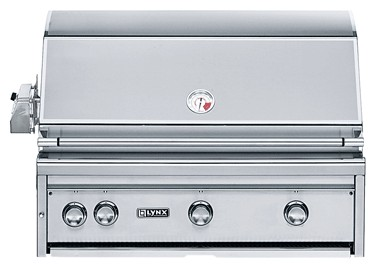 "L36R1NG- Lynx 36"" Built-In Professional Outdoor Grill with Rotisserie- Natural Gas"