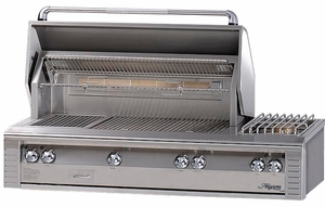 "ALX256SZN Alfresco 56"" Built-In Outdoor Grill with SearZone - Natural Gas - Stainless Steel"