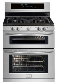 "FGGF304DLF Frigidaire Gallery 30"" Freestanding Gas Double Oven Range - Smudge-Proof Stainless Steel"