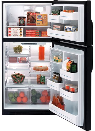 GTS22KBPBB GE 21.7 Cu. Ft. Top-Freezer Refrigerator - Black