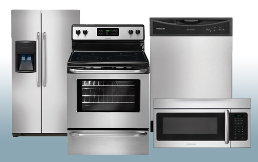 Package 13 - Frigidaire Builder's Special Package - 4 Piece Appliance Package - Stainless Steel - Electric