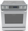"DR30EIS Dacor Distinctive 30"" Slide-In Electric Range, in Stainless Steel, with Epicure Style Handle in Stainless Steel with Chrome Trim, and 3-14"" Side Panels - Stainless Steel"