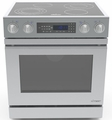 "DR30EIFS Dacor Distinctive 30"" Slide-In Electric Range, in Stainless Steel, with Flush Handle, and 3-14"" Side Panels - Stainless Steel"