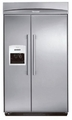 "KBUDT4255E Thermador 42"" Built-In Side-by-Side Refrigerator with External Ice Dispenser - Masterpiece Handles - Stainless Steel"