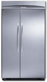 "KBUIT4255E Thermador 42"" Built-In Side-by-Side Refrigerator with Internal Ice Maker - Masterpiece Handles - Stainless Steel"