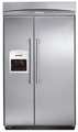 "KBUDT4855E Thermador 48"" Built-In Side-by-Side Refrigerator with External Ice Dispenser - Masterpiece Handles - Stainless Steel"