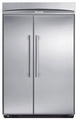 "KBUIT4855E Thermador 48"" Built-In Side-by-Side Refrigerator with Internal Ice Maker - Masterpiece Handles - Stainless Steel"