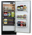 "30ARM-BB-F-R Marvel 15"" Undercounter Refrigerator - Right Hinge - Full Wrap - Black Cabinet/Black Door"
