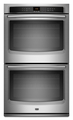MEW7627AW Maytag 27-inch Electric Double Wall Oven with Precision Cooking System - White