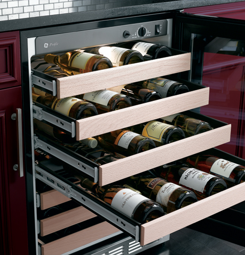 PCR06WATSS GE Profile Undercounter Wine Captain Refrigerator - Stainless Steel