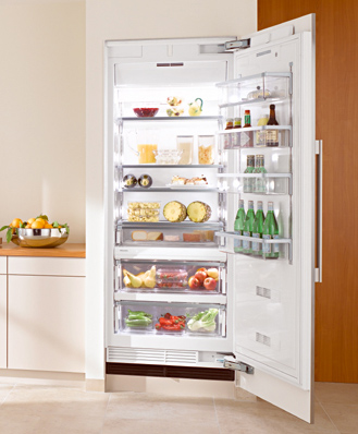 "K1801Vi Miele Energy Star 30"" Fully Integrated All Refrigerator Right Hinged - Custom Panel"