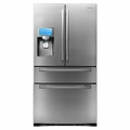 "RF4289HARS Samsung 28 cu. ft. 4-Door Refrigerator and 8"" LCD Digital Display with Apps - Stainless Steel"