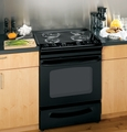 "JSP39DNBB GE 30"" Slide-In Electric Range with Self-Cleaning Oven - Black"