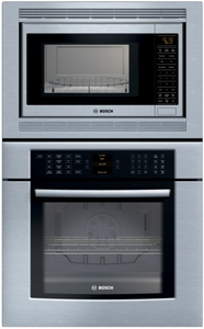"HBL8750UC Bosch 30"" Combination Euro Convection Wall Oven and Convection Microwave Oven 800 Series - Stainless Steel"