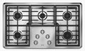 "MGC7536WS Maytag 36"" Gas Cooktop - Stainless Steel"