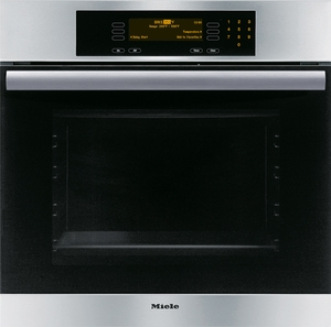 "H4684B Miele MasterChef Classic Series 24"" Single Oven - Self-Clean - Stainless Steel"