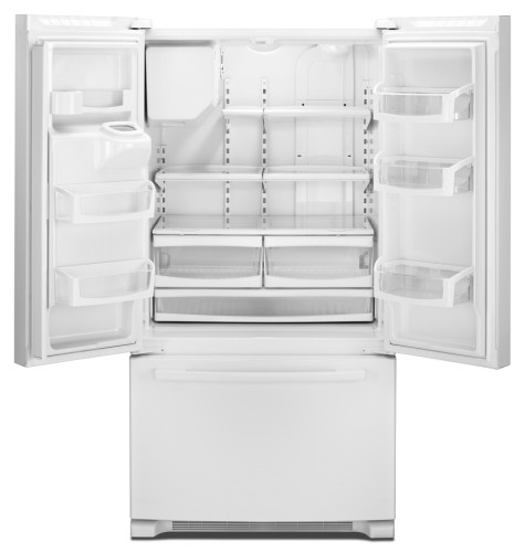 GI6FARXXY Whirlpool Gold Energy Star 26 Cu. Ft. French Door Bottom Freezer Refrigerator - Monochromatic Stainless Steel