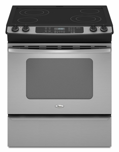 GY397LXUS Whirlpool Gold 30-Inch Slide-In Electric Ceramic Glass Range  - Stainless Steel