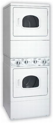 ASE30F Speed Queen  Front Load Stacked Electric Dryer/Dryer Unit - White