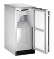 CLR2160SOD-41 U-Line 2000 Series Outdoor Clear Ice Maker with Drain Pump - Left Hinged - Stainless Steel