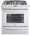 "FGDS3065KW Frigidaire Gallery 30"" Slide-In Dual-Fuel Range - White"