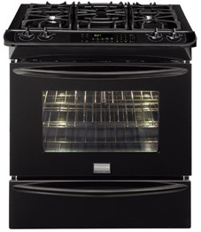"FGDS3065KB Frigidaire Gallery 30"" Slide-In Dual-Fuel Range - Black"