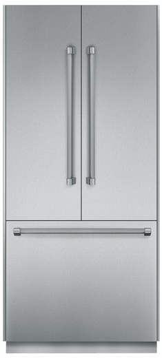 "T36BT820NS Thermador Freedom 36"" Pre-Assembled Built-In French Door Bottom-Freezer Refrigerator with Professional Handles - Stainless Steel"