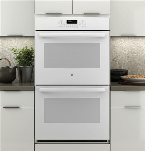 "JT5500DFWW GE 30"" Built-In Double Convection Wall Oven - White"