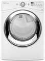 WGD86HEBW Whirlpool Duet Steam 7.4 cu. ft. Front Load Gas Dryer with Wrinkle Shield Plus option - White