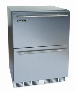 "HA24RB6 Perlick 24"" ADA Compliant Built-in Refrigerator with Integrated Wood Overlay Drawers"