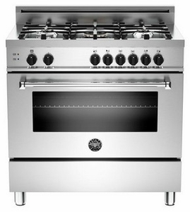 "MAS365GASXE Bertazzoni Master Series 36"" 5 Burner All Gas Range - Stainless Steel"