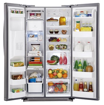 LSC27925ST LG Side-By-Side Refrigerator with Ice and Water Dispenser - Stainless Steel