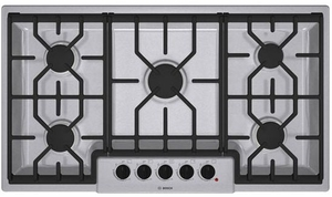 "NGM5654UC Bosch 500 Series 36"" Gas Cooktop - Stainless Steel"