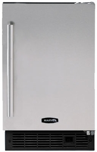 "15iM-BS-F-R Marvel 15"" No-Drain Ice Machine - Black Cabinet, Stainless Steel Door  - Right Hinge"
