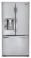 LFX25991ST LG Super-Capacity Counter Depth 3 Door French Door Refrigerator with Smart Cooling Plus - Stainless Steel