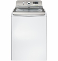 GTWS8450DWS GE 4.8 DOE Cu. Ft. Capacity Washer with Stainless Steel Basket and Steam - White