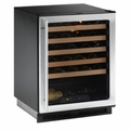 1175WCS-00 U-Line 1000 Series Undercounter 48 Bottle Wine Captain - Field Reversible - Stainless Steel