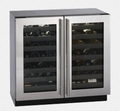 3036WCWCS-00 U-Line 3000 Series Dual Zone Cooling System Undercounter Wine Captain - Stainless Steel