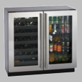 "3036BVWCS-00 U-Line 3000 Series 36"" Dual Zone Convection Cooling System Wine Captain Beverage Center - Stainless Steel"