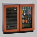 "3036BVWCOL-00 U-Line 3000 Series 36"" Dual Zone Convection Cooling System Wine Captain Beverage Center - Overlay Frame"