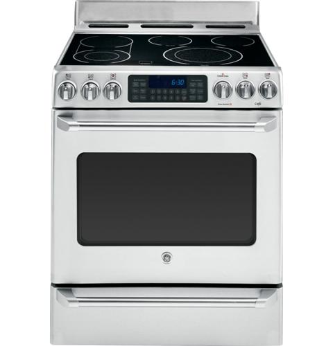 "CS980STSS GE Cafe 30"" Free Standing Electric Range with Baking Drawer - Stainless Steel"