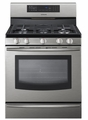 "FX710BGS Samsung 30"" 5.8 cu ft Freestanding Gas Range with True Convection - Stainless Steel"