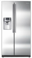 RS263TDRS Samsung 26 Cu. Ft. Side by Side Refrigerator Water and Ice Dispenser - Stainless Steel