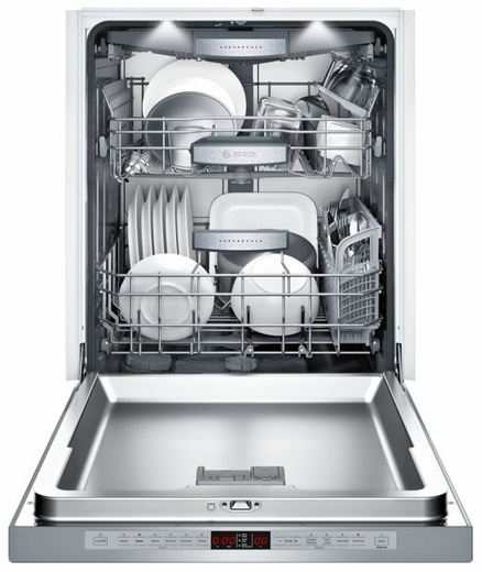 "SHE8PT55UC Bosch 800 Plus Series 24"" Recessed Handle Dishwasher - Stainless Steel"