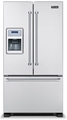 "VCFF136D Viking Professional Series 36"" French-Door Bottom-Mount Refrigerator/Freezer with Ice and Water Dispenser - Stainless Steel"