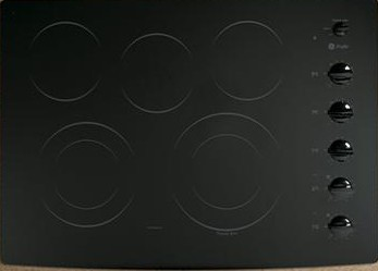 "PP944DTBB GE Profile 30"" Built-In CleanDesign Electric Cooktop - Black"