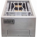 83003 Weber Built In Dual Side Burner - Liquid Propane - Stainless Steel