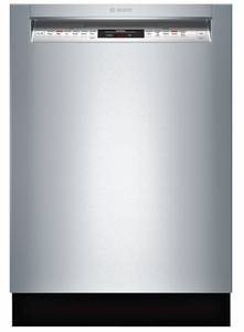"SHE68T55UC Bosch 800 Series 24"" Recessed Handle Dishwasher - Stainless Steel"
